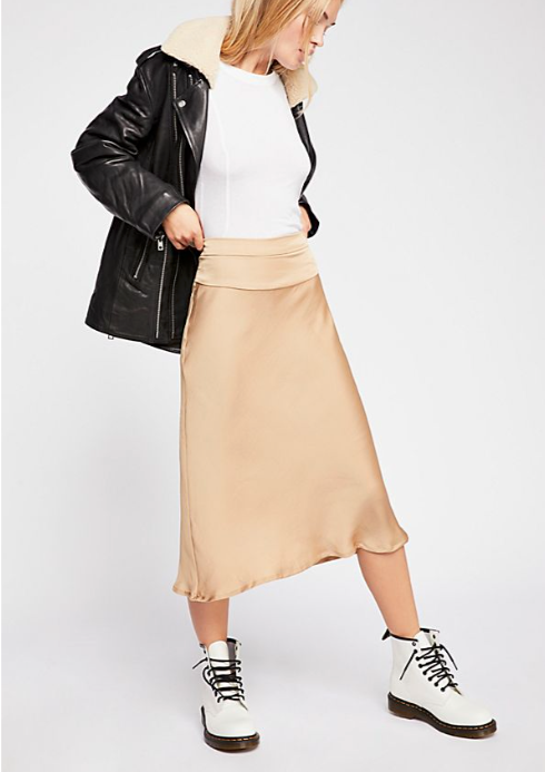 Free People Normani Bias Skirt