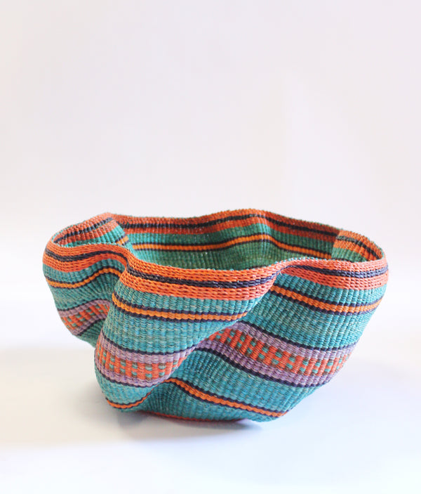 Baba Tree Pakurigo Wave Basket Blue Orange