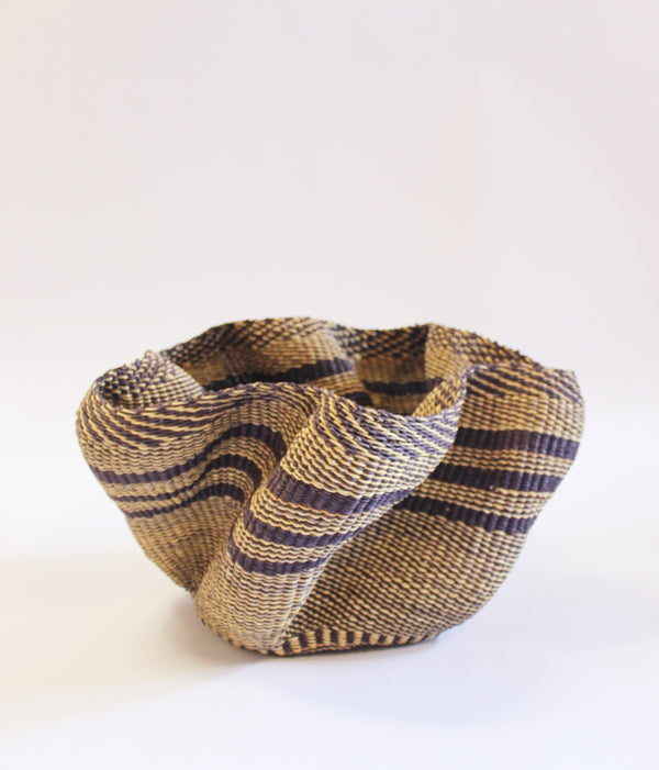 Baba Tree Pakurigo Wave Basket Neutral Stripe
