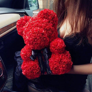 Valentine's Day Gift Artificial Flowers Rose Bear