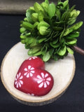 Red Hand Carved Soapstone Hearts