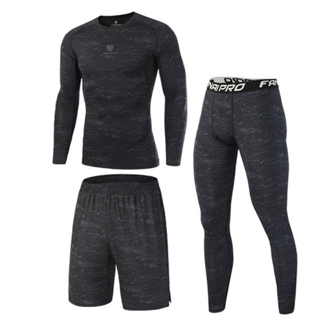 Men's Gym Fitness tracksuits Running Set