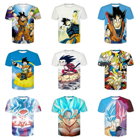 Master Roshi 3d T Shirt  Anime Dragon Ball Z T-Shirts