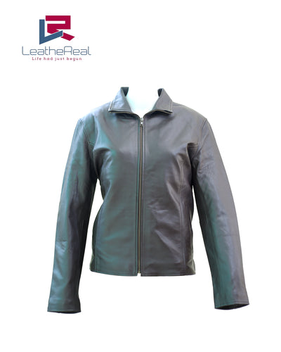 Leather real sheep fashion jacket