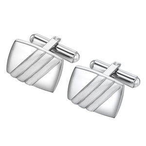 Three Line Stainless Steel cuff links