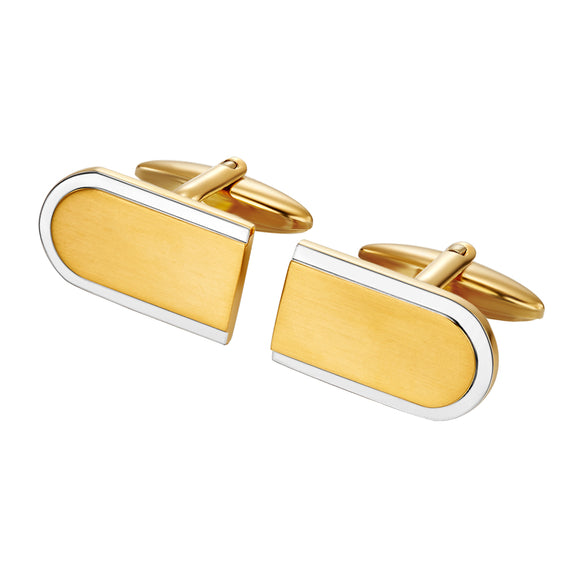Two Tone Engraveable cuff links