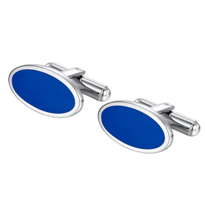 Oval Blue cuff links