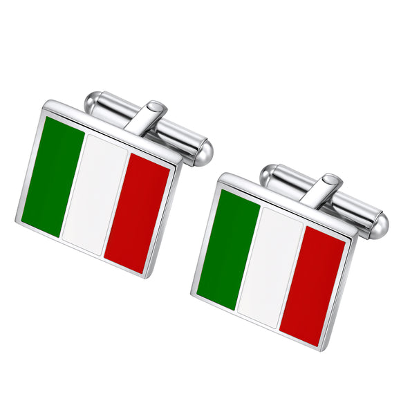 Italy Flag cuff links