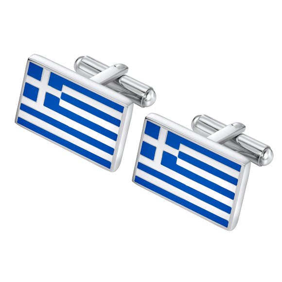 Greek Flag cuff links