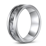 Carbon Fiber Tungsten Ring Tapered Edge