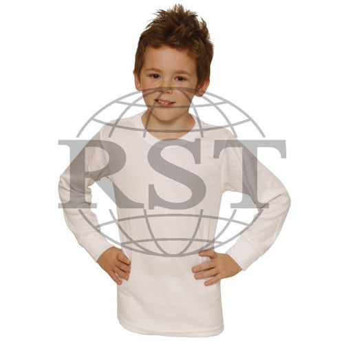 D105B: Boys Thermal Long Sleeved Vest
