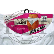 Load image into Gallery viewer, B4: Pack Of 10 Passionelle Womens Designer White Colour Bikini Briefs