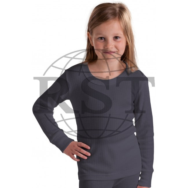 M105G: Girls British Made Thermal Long Sleeved T Shirt
