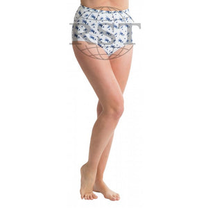 M1: Pack Of 3 Passionelle Womens Printed Tunnel Mama Briefs