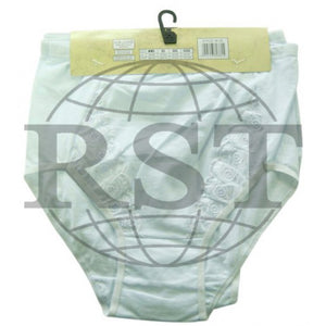 M38: Pack Of 3 Passionelle Womens White Tunnel Mama Briefs With Embroidery Design