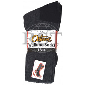 S009: 3 Pack: Mens Trekking Cushioned Walking Socks