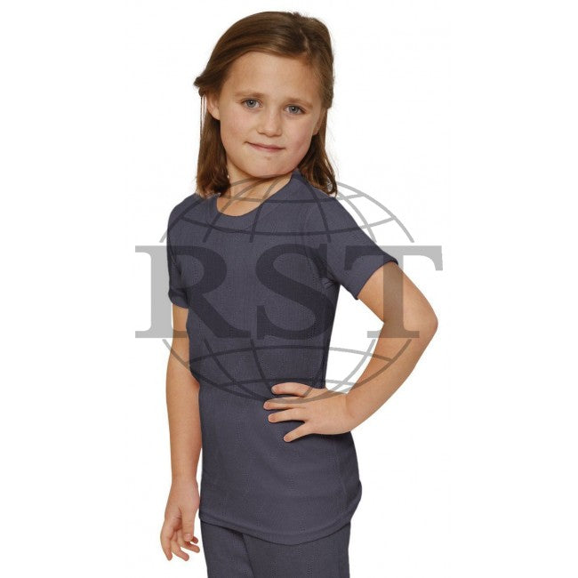 D101G: Girls Thermal Short Sleeved Vest