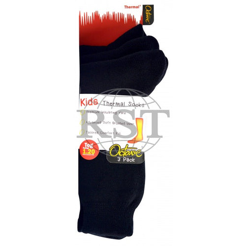S007: 3 Pack: Kids Thermal Socks 1.2 Tog