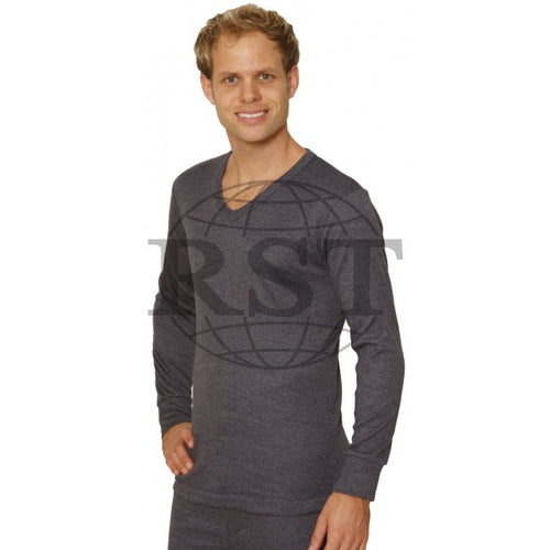 DVL: Mens Thermal V Neck Long Sleeved Vest
