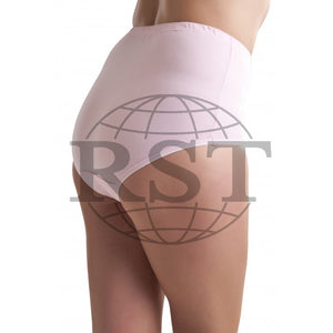 RWB120: Pack Of 3 Passionelle Womens 100 Cotton Pastel Tunnel Mama Briefs With Embroidery
