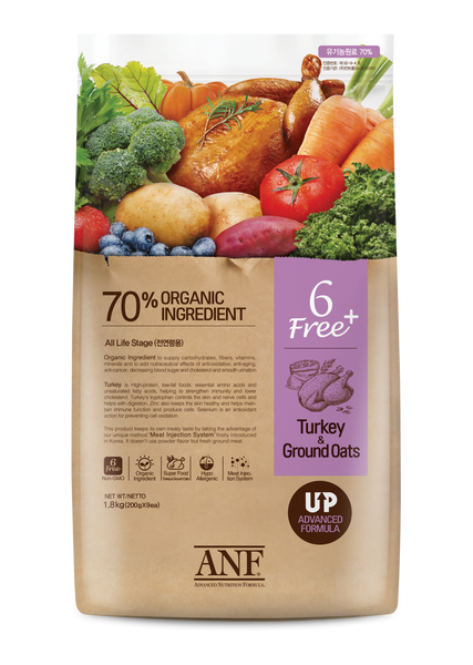 6 Free Made with Organic Turkey & Ground Oats