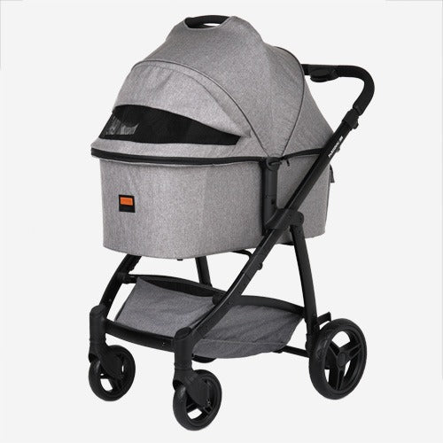 Premium Foldable Pet Stroller (Gray) Deluxe X-Large