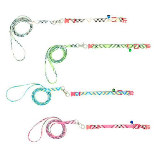 Checkered Collar & Leash Set