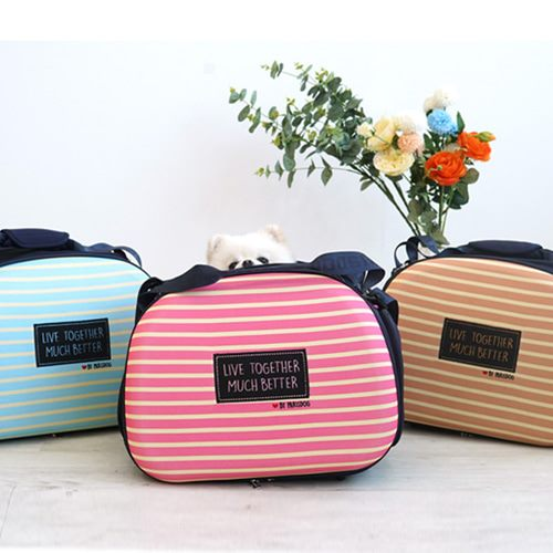 Striped Foldable Bag