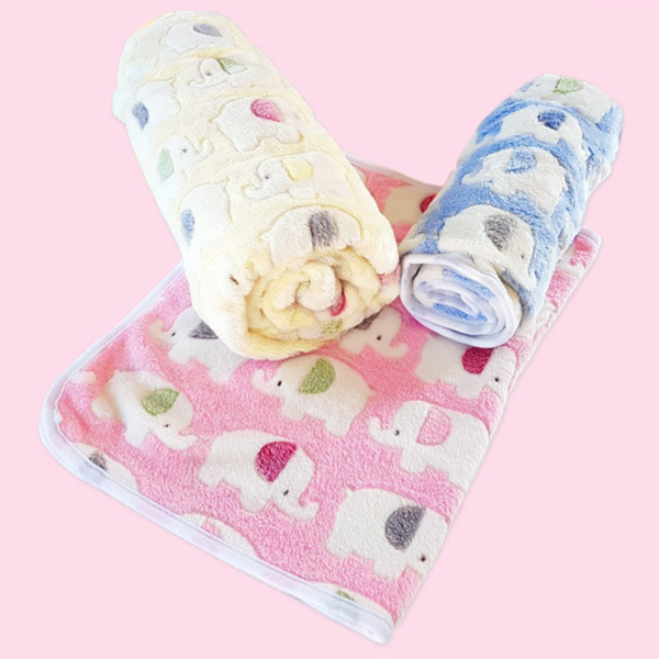 Cottony Elephant Pet Blanket