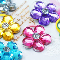 Crystal Flower Hair Tie