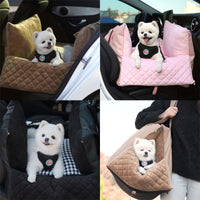 Premium Pet Car Seat & Portable Travel Bag