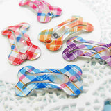 Plaid Bone Shaped Hair Clip