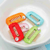 Ribbon Wrapped Comb Hair Clip (Small)