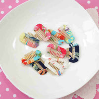 Floral Ribbon Wrapped Comb Hair Clip (Small)