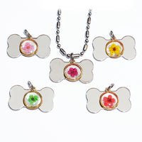 Preserved Flower Name Tag Collar