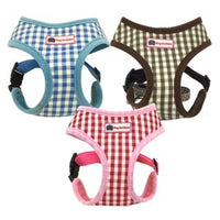 Checkered Cotton Harness & Leash Set