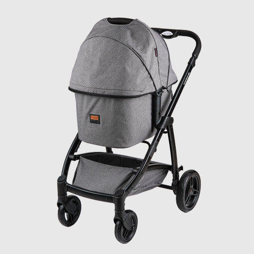 Premium Foldable Pet Stroller (Gray) Large