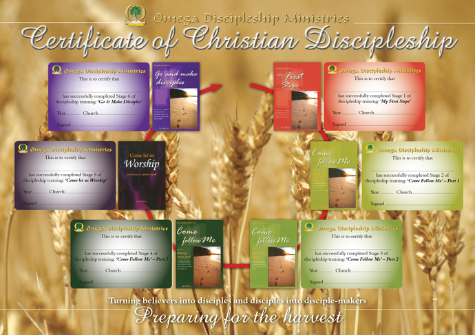 Discipleship Series - Certificate (Pack of 6 sets) - Omega Discipleship Ministries