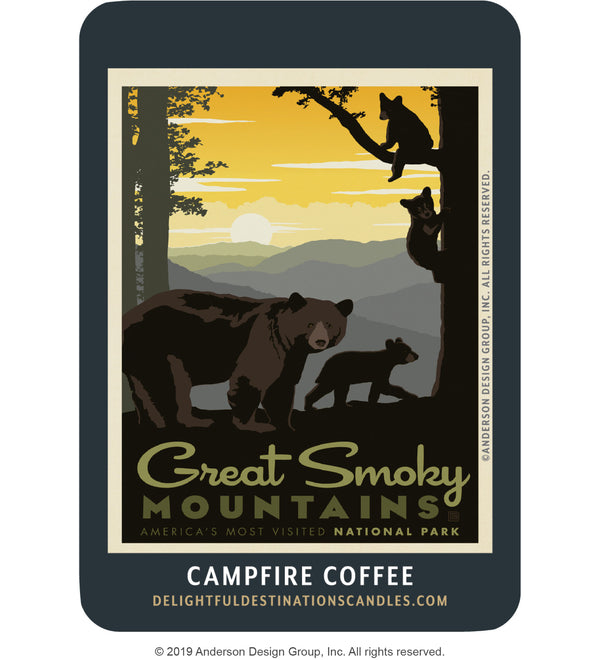 Great Smoky Mountains Air Freshener: Mama Bear & Cubs