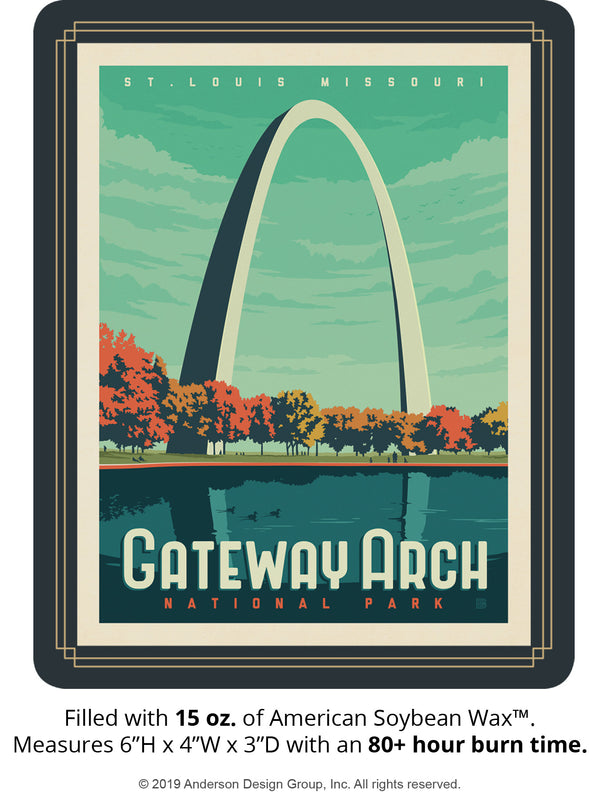Gateway Arch Keepsake Jar