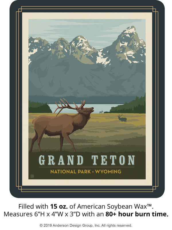 Grand Teton Keepsake Jar: Elk