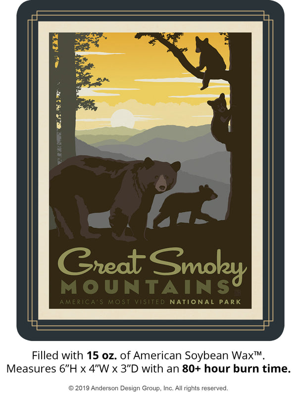 Great Smoky Mountains Keepsake Jar: Mama Bear & Cubs