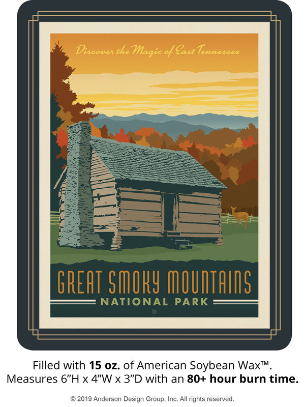 Great Smoky Mountains Keepsake Jar: Cabin