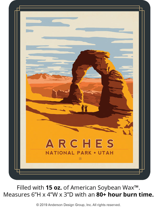 Arches Keepsake Jar: Delicate Arch