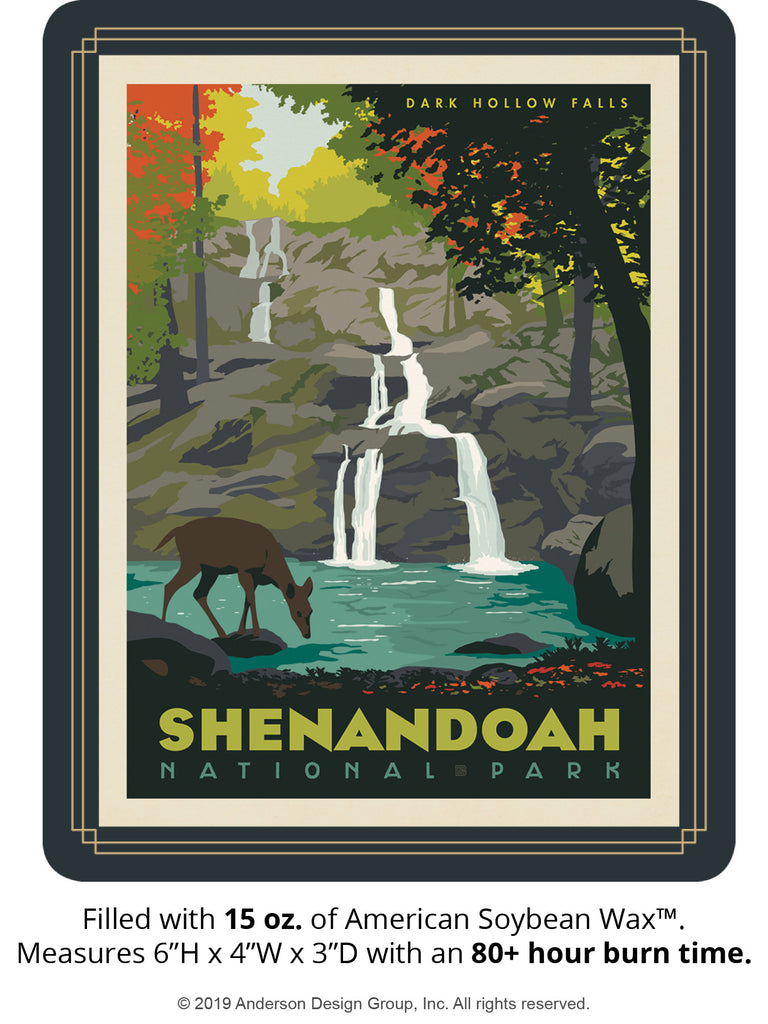Shenandoah Keepsake Jar: Dark Hollow Falls