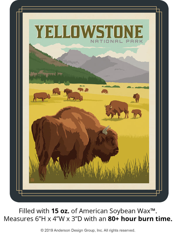 Yellowstone Keepsake Jar: Bison Herd