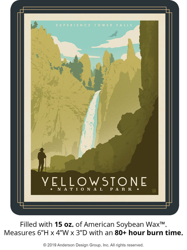 Yellowstone Keepsake Jar: Tower Falls