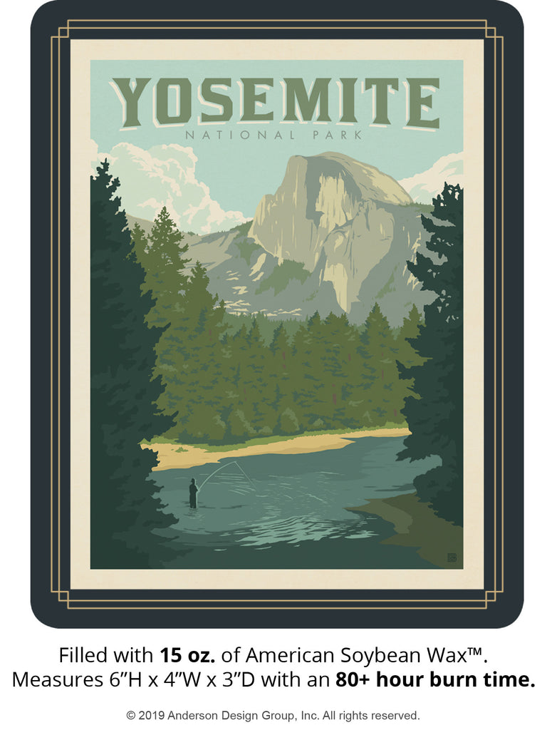 Yosemite Keepsake Jar: Half Dome from the River