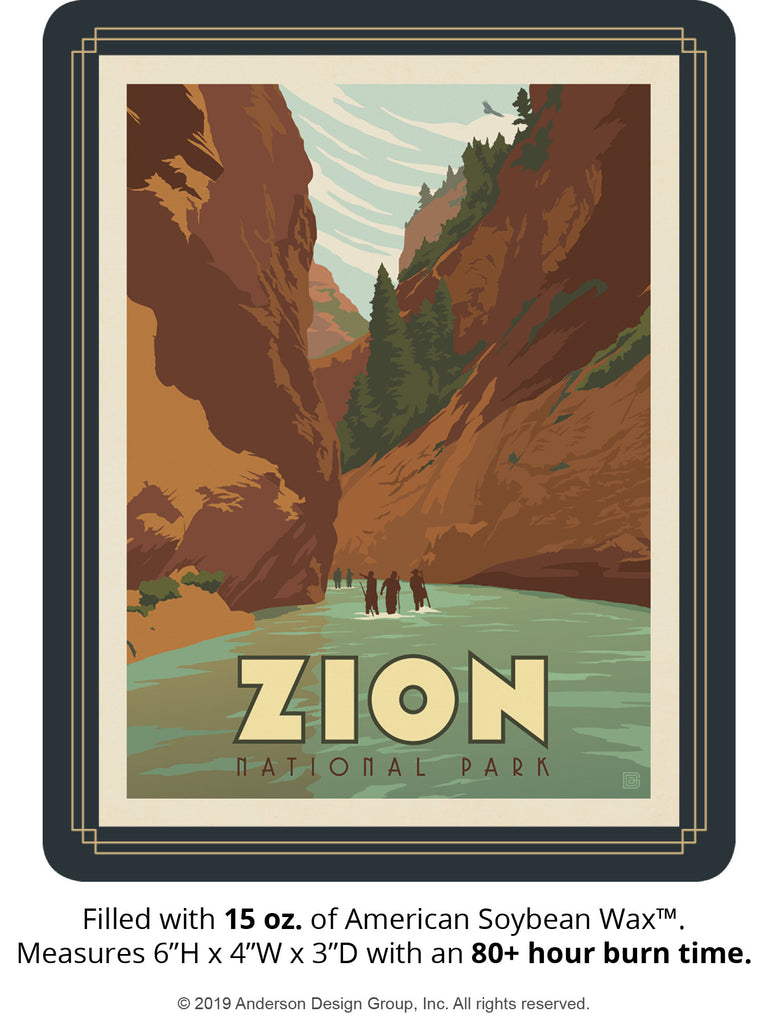Zion Keepsake Jar: Hiking the Narrows