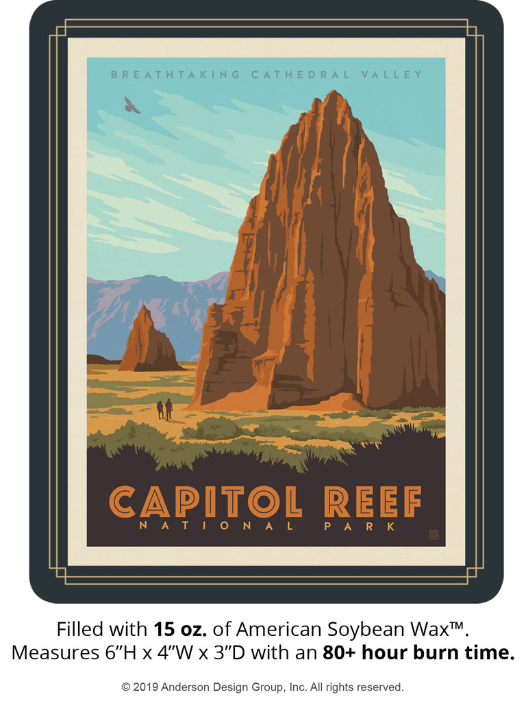 Capitol Reef Keepsake Jar: Cathedral Valley